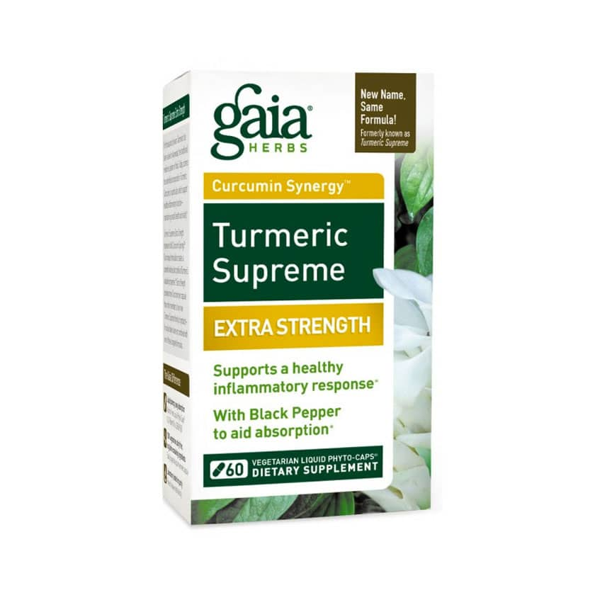 Gaia Turmeric Supreme with Black Pepper Veg Liquid Phyto Caps