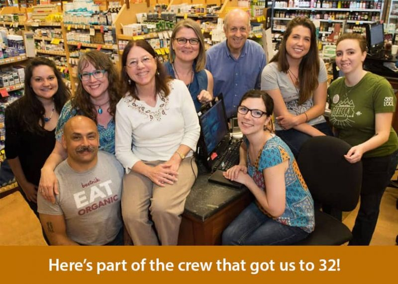 Celebrating 32 Years of Rebecca's Natural Food!