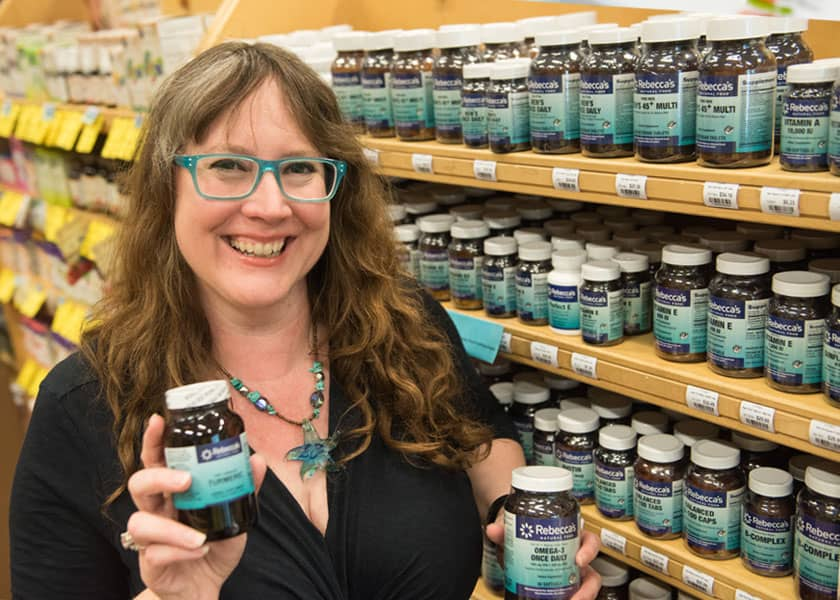 Co-Manager Brandon Davis with Rebecca's Private Label Supplements,-Herbs, and Essential Oils