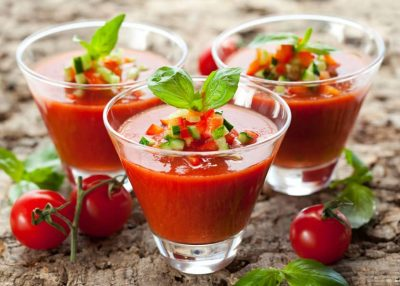 Summer Recipe Highlight: Gluten Free Gazpacho, an ideal antidote to the heat of summer